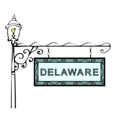 Delaware retro pointer lamppost vector