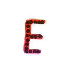 E letter logo handwritten with a red felt-tip pen vector