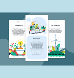 eco energy and save world web site pages templates vector image