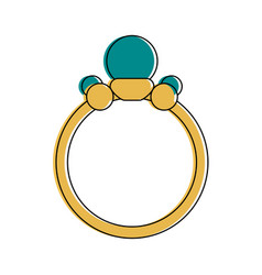 engagement ring icon image vector image
