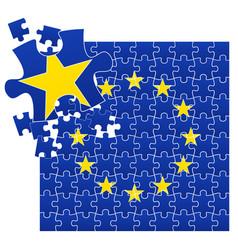 European union flag divided vector