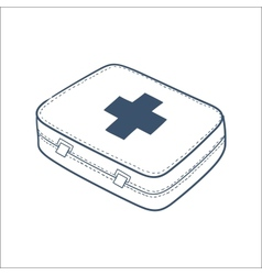 First aid kit isolated on white vector image
