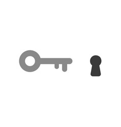 flat design style concept of key icon with vector image
