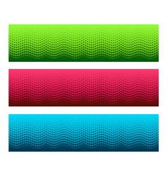 gorizontal seamless halftone pattern vector image