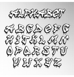 Graffity font vector image