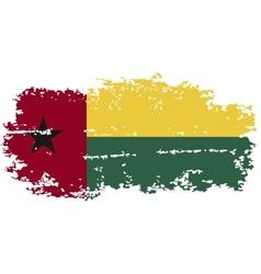 Guinea-Bissau grunge flag vector image