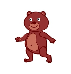 Hand-drawn cartoon wild Bear vector image