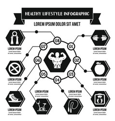 Healthy life infographic concept simple style vector