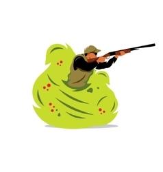 Hunter man Cartoon vector image