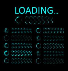 icon load progress circle for ui loading vector image