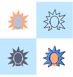 irritation concept icon set in flat and line style vector image