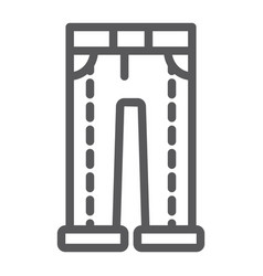 jeans line icon clothing and denim trousers vector image