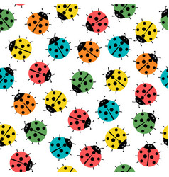 ladybugs in colors seamless pattern abstract vector image