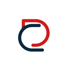 letter dc outline minimalist creative modern logo vector image