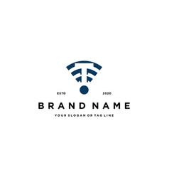 Letter t wireless logo design vector