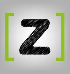 letter z sign design template element vector image