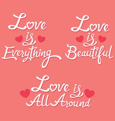 Lettering About Love vector