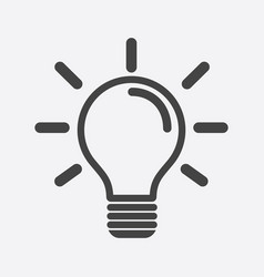 light bulb icon in white background idea flat vector image