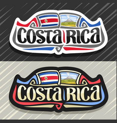 Logo for costa rica vector