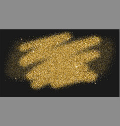 Luxury gold sparkle glitter texture bold brush vector