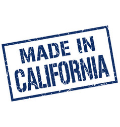 made in california stamp vector image