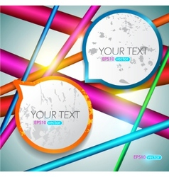 modern speech bubbles vector image