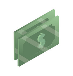 money banknotes currency cash isometric isometric vector image