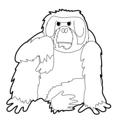 Orangutan icon outline vector