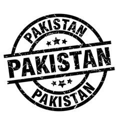 Pakistan black round grunge stamp vector