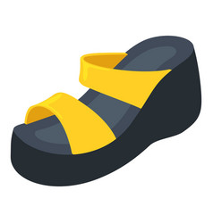 Paltform shoe icon isometric style vector