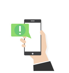 phone alert notification vector image