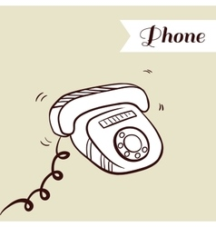 Phone On Beige Background vector image