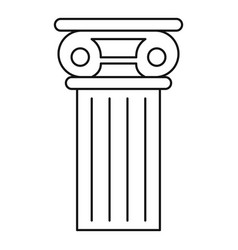 pillar icon outline style vector image