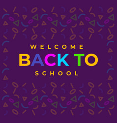 Poster back to school with seamless pattern vector