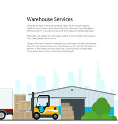 Poster warehouse services vector
