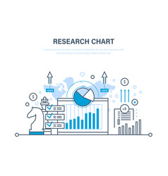 research chart business planning strategy vector image
