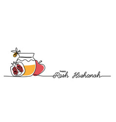 Rosh hashanah simple background with honey vector