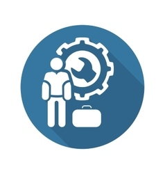 Service Man Icon Flat Design vector