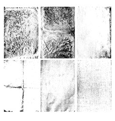set grunge textures isolated on white vector image