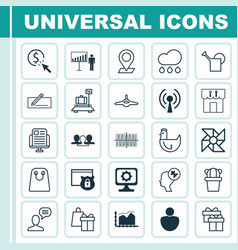 set of 25 universal editable icons can be used vector image