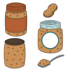 set of peanut butter vector image