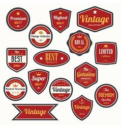 set retro vintage badges and labels eps10 vector image