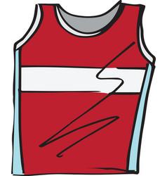 Sketch of t-shirt sleeveless vector