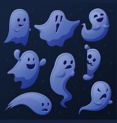 spooky ghost cartoon ghosts ghostly shadows vector image