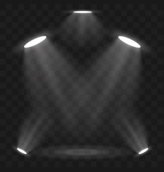 spotlights scene light effects stage light vector image