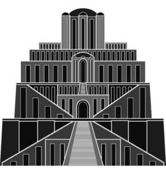 Stencil of ziggurat vector