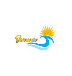 Summer logo template design vector