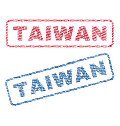 Taiwan textile stamps vector