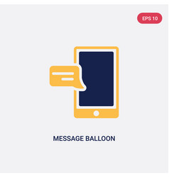 two color message balloon icon from ultimate vector image