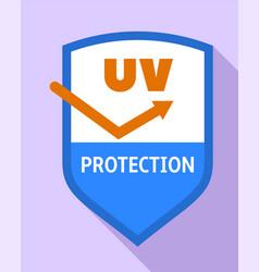 Uv shield protection logo flat style vector